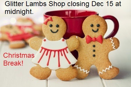 Glitter Lambs Etsy Shop Closing Dec 15 at Midnight!