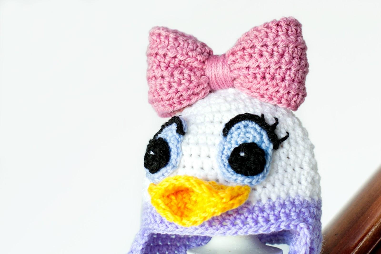 Daisy Crochet Baby Hat Pattern : Hopeful Honey Craft, Crochet, Create: Daisy Duck ...