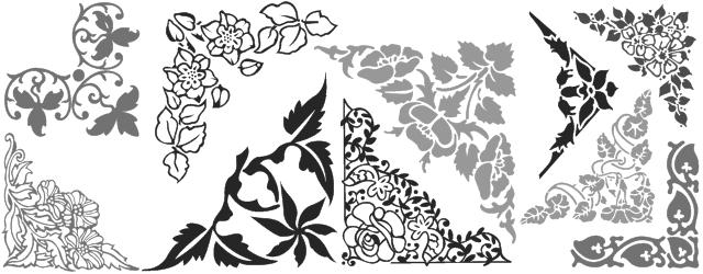 Decorative border font shreel50