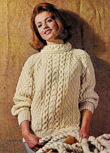 Fisherman Knit Sweater Pattern : funkoma vintage*the recycled life: Sweater Weather is on the way, but SUMMER.