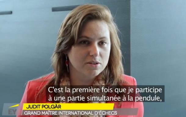 Judit Polgar, la plus forte joueuse de tous les temps était l'invitée de l'édition 2015