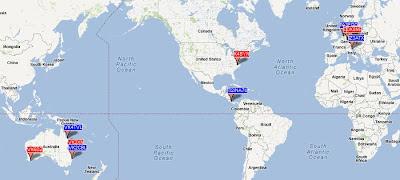 WSPRnet map of six meters