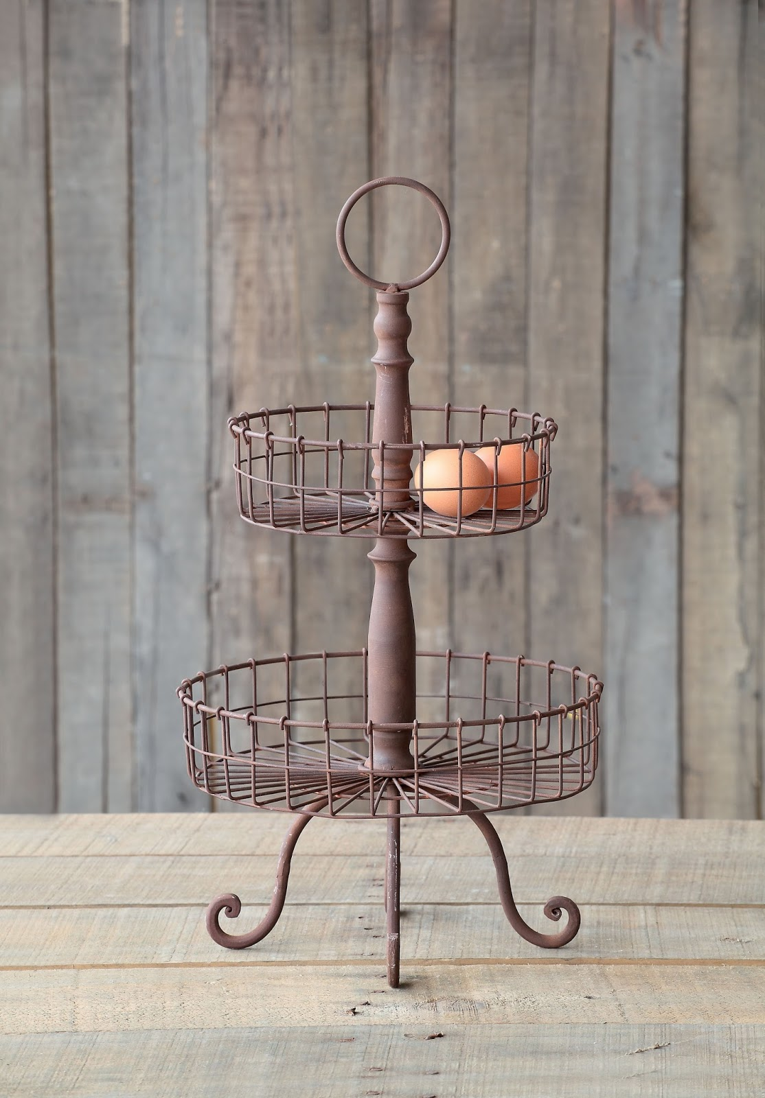 farmhouse musings: French Country Two Tiered Wire Basket