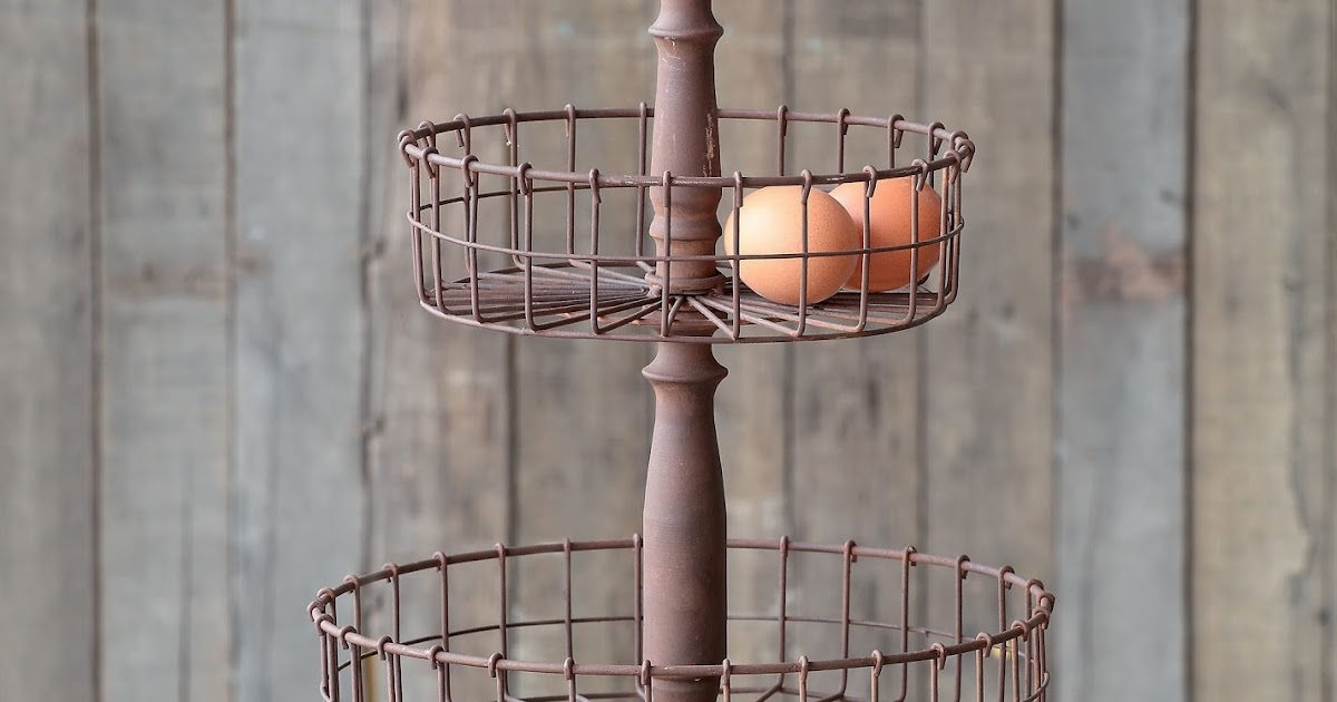Farmhouse Musings French Country Two Tiered Wire Basket