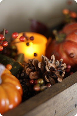 Easy fall tablescape idea by ThriftyDecorChick