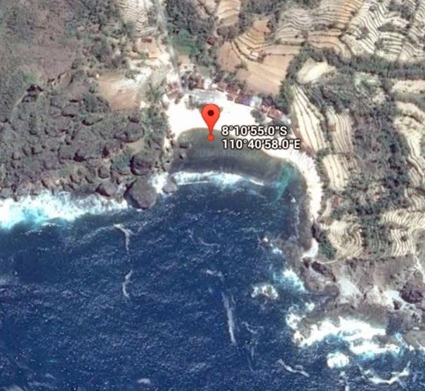 Koordinat Lokasi Pantai Siung_siparjo.com