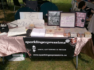 sparklingexpressions display at Beckwith Heritage Days