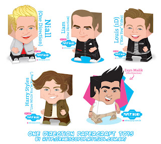 One Direction Papercraft Toy