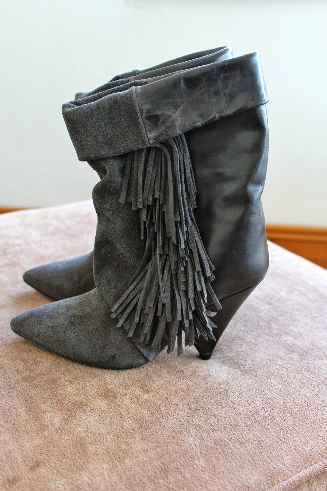 Isabel Marant pour H&M fringe suede boot
