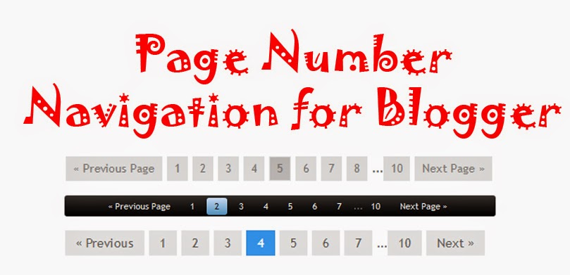 How To Add Page Number Navigation In Blogger