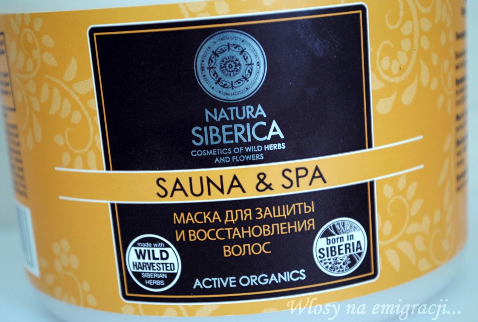 Natura Siberica, Sauna&Spa, Maska do ochrony i odbudowy wlosow
