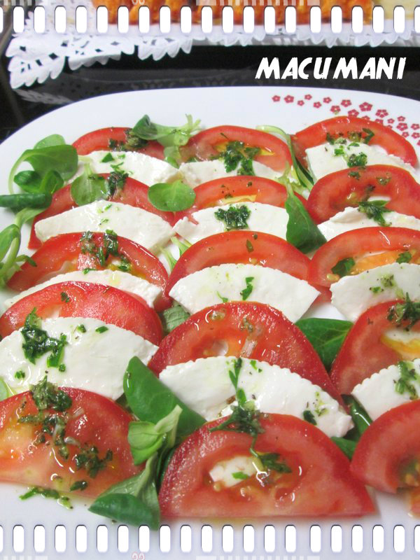 ENSALADA CAPRESE INGREDIENTES