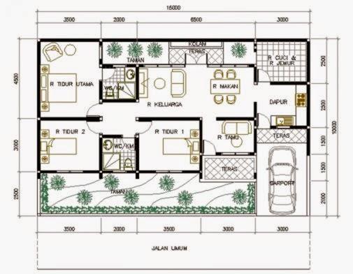 desain rumah minimalis 1 lantai 3 kamar design rumah