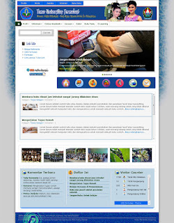theme blue_campuz for website sekolah with CMS Formulasi
