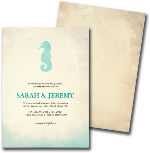 Under the Sea Wedding Invitations