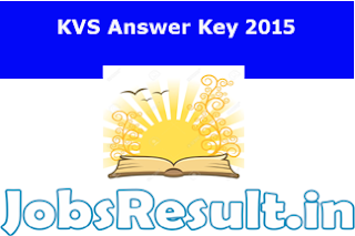 KVS Answer Key 2015