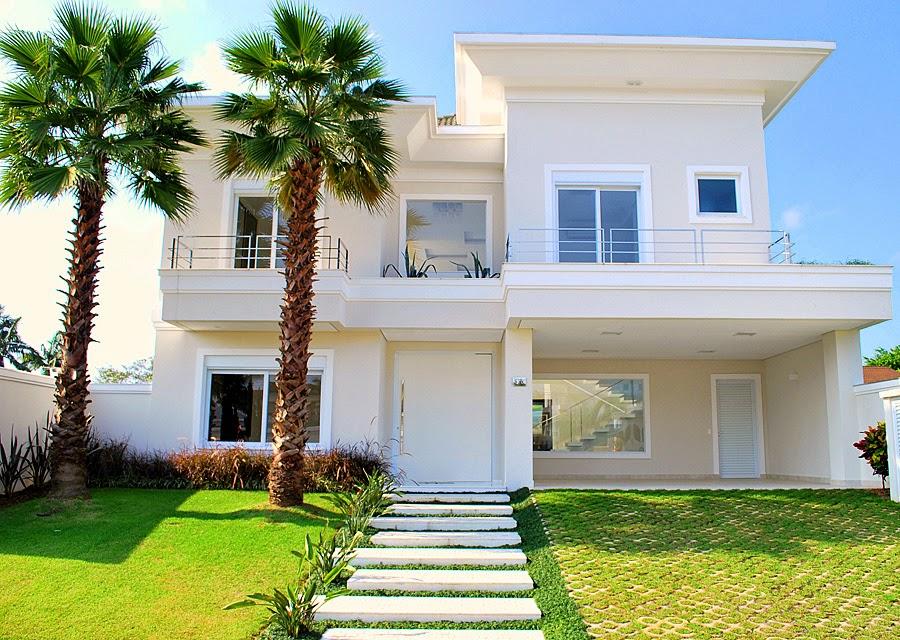 20 fachadas de casas com entradas principais modernas e - Entradas casas modernas ...
