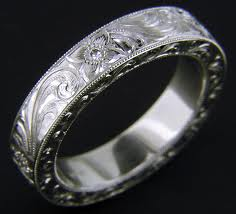 20th Anniversary Gift Platinum Ring