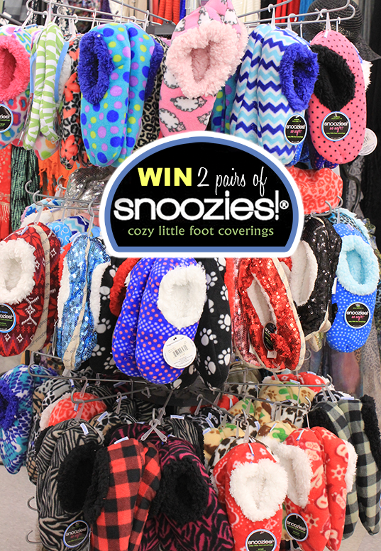 WIN 2 pairs of Snoozies cozy little foot coverings