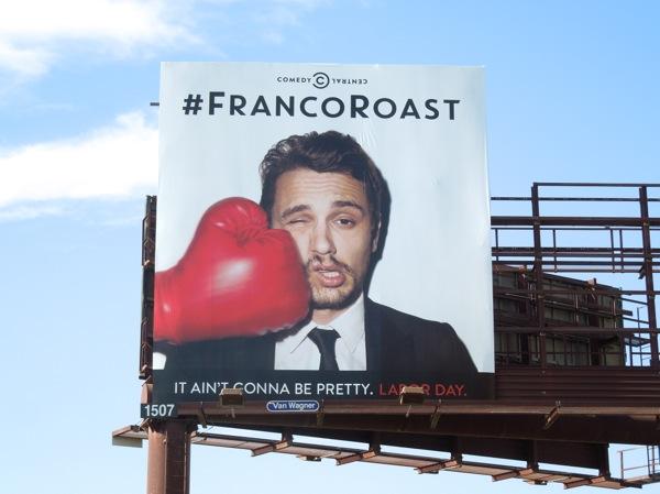 Franco Roast boxing glove billboard