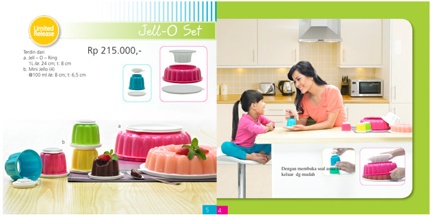 Tupperware Jell-O Set