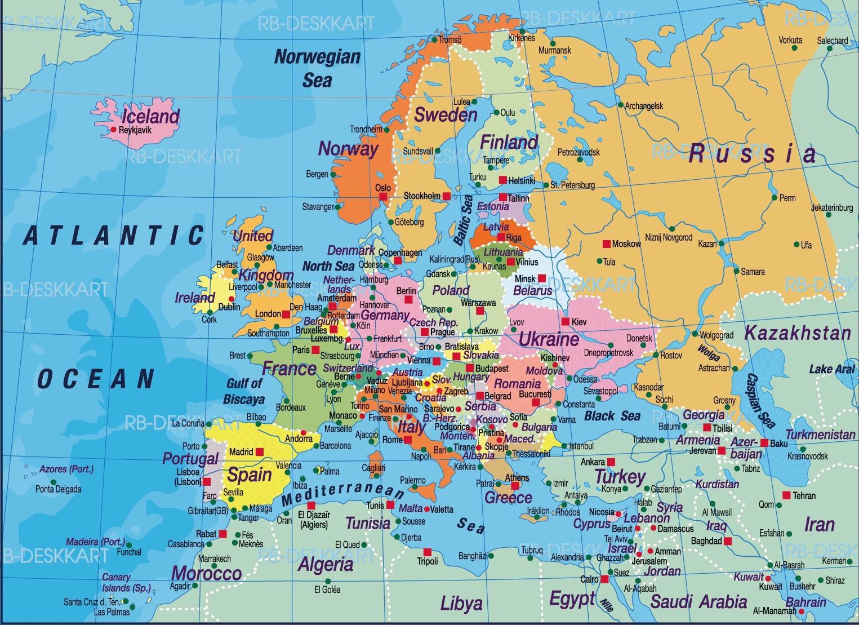 Bildresultat för europa karta