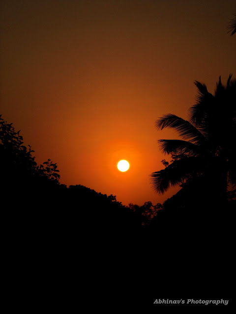 Sunset Photo from Chirakkadavu (Kottayam District, Kerala)