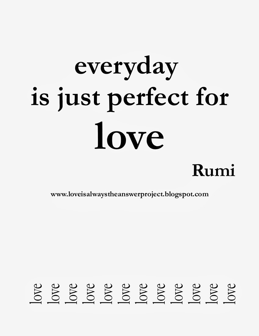 everyday is perfect for love