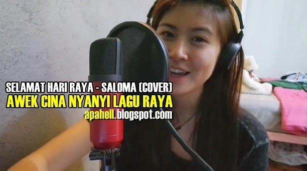 Awek Cina Nyanyi Lagu Raya Comey Best