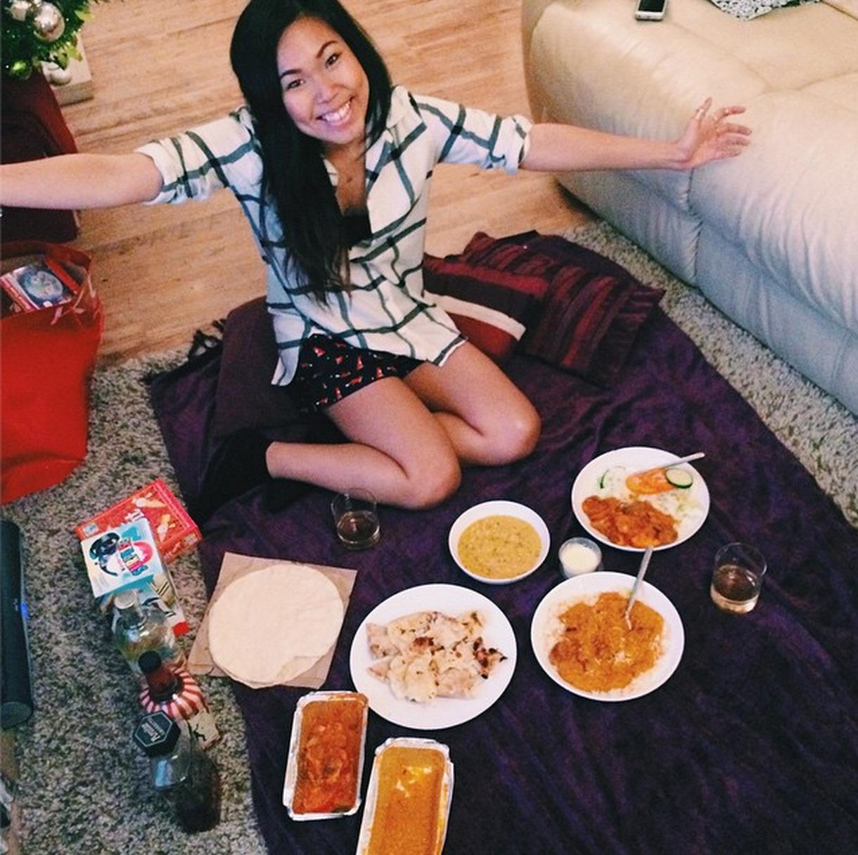 living room picnic