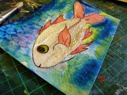 Whoopidooings: Carmen Wing - Mixed Media Fish