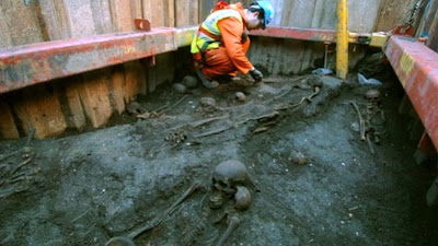 Crossrail dig unearths forgotten London