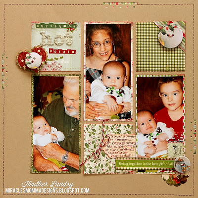 6x6 Paper Pad Ideas_Baby_Christmas Scrapbook