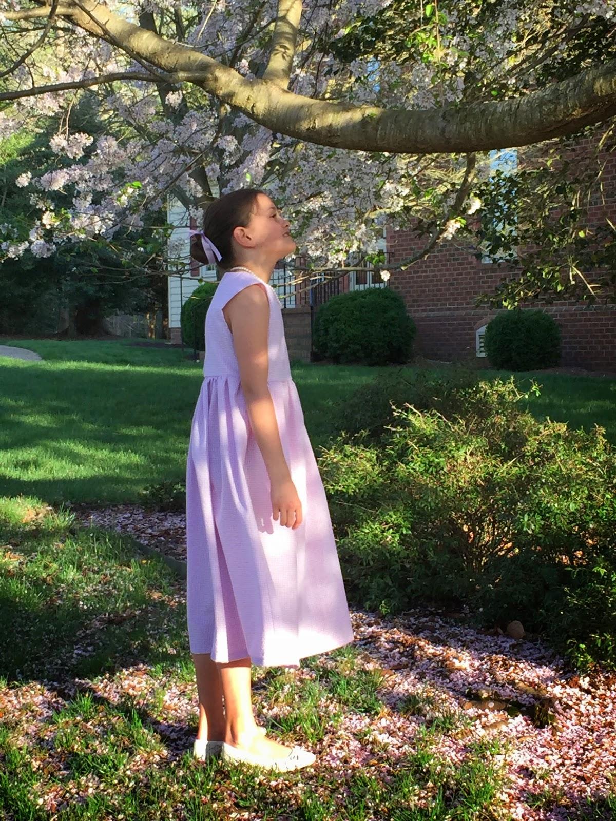 kathleen, summer dress, seersucker, whigs & tories, children's clothes, williamsburg