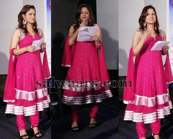 Shilpa Chakraborthy Sleeve Less Salwar