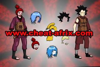 Cheat Ninja Saga Hair Style For Male Permanent
