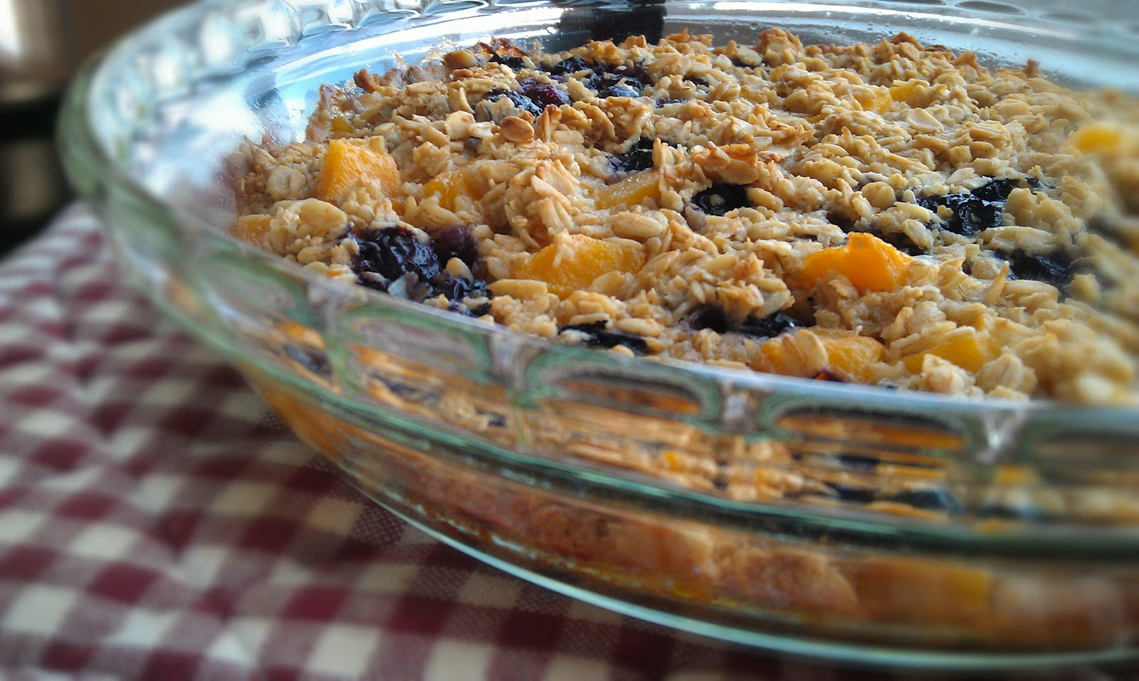 Egg Free Bakery: Egg Free Baked Blueberry & Peach Oatmeal