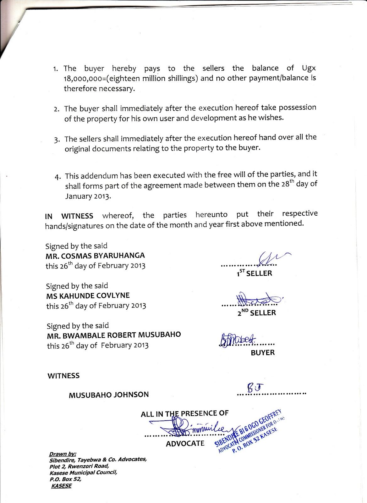 My Secret Atheist Blog Kasese Humanist Primary School in Uganda – Land Purchase Agreement