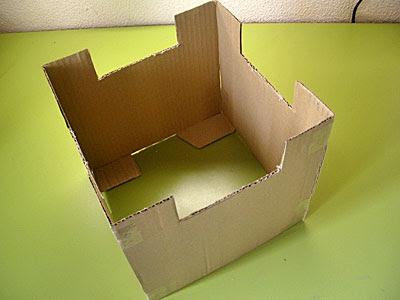hace caja papel corrugado forma carro: