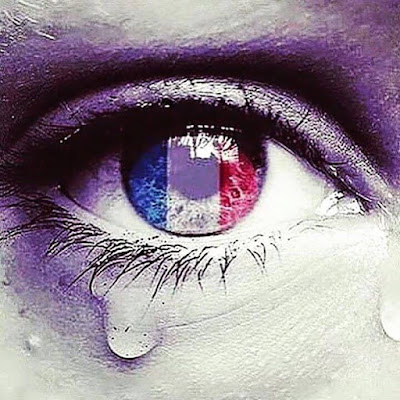 Pray for Paris crying eye