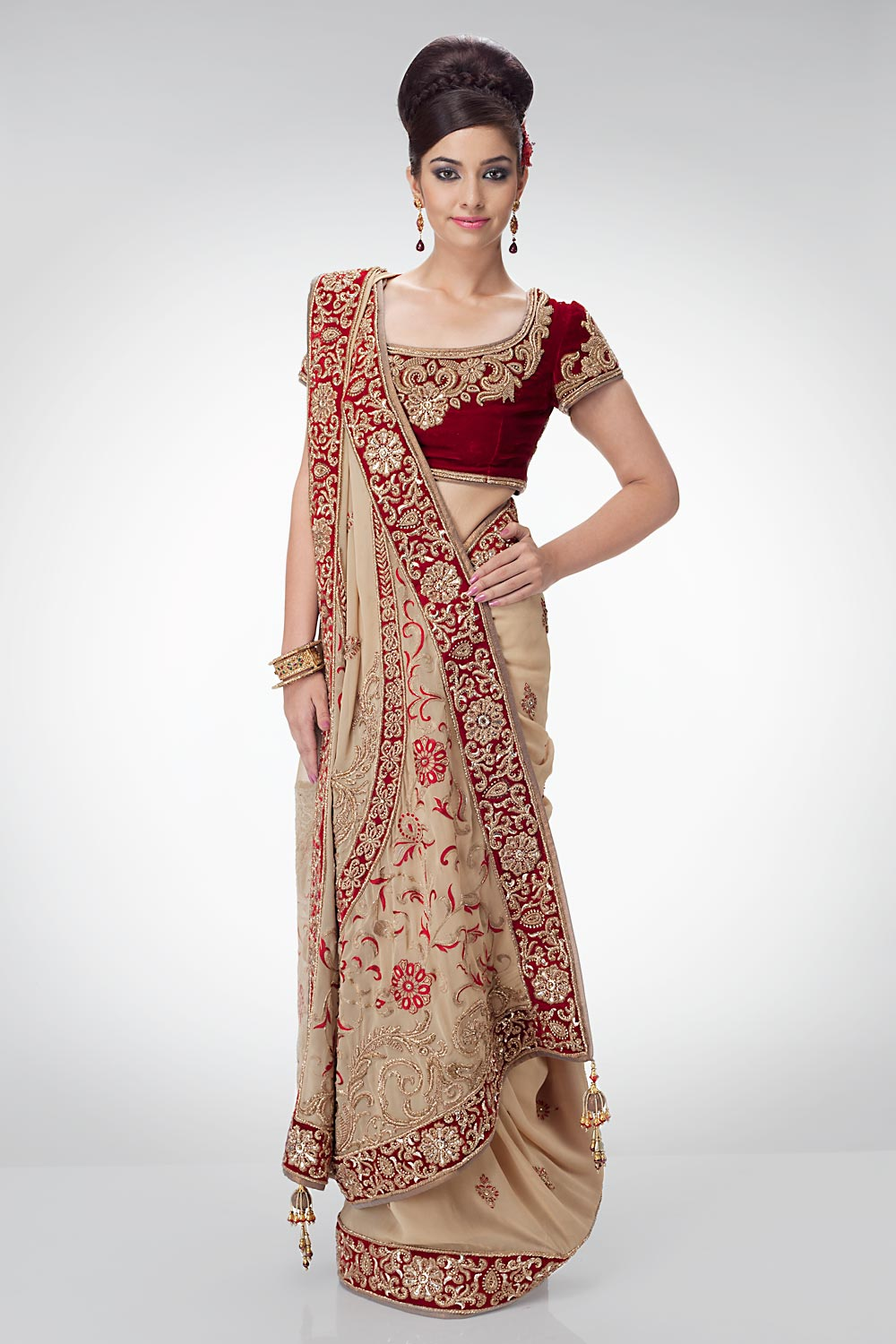 Bridal Sarees Indian Bridal Sarees Bridal Sarees For Parties Bridal Party Wear Sarees Fashion