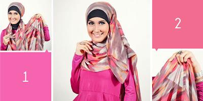 Cara Memakai Jilbab Pashmina Chiffon Sutera