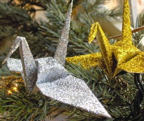 świąteczny ptak origami
