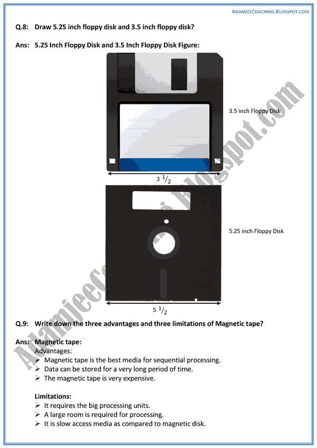 Storage-Devices-Descriptive-Question-Answers-Computer-IX