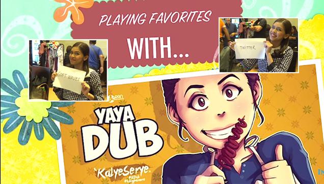 Playing Favorites with Yaya Dub (Maine Mendoza)