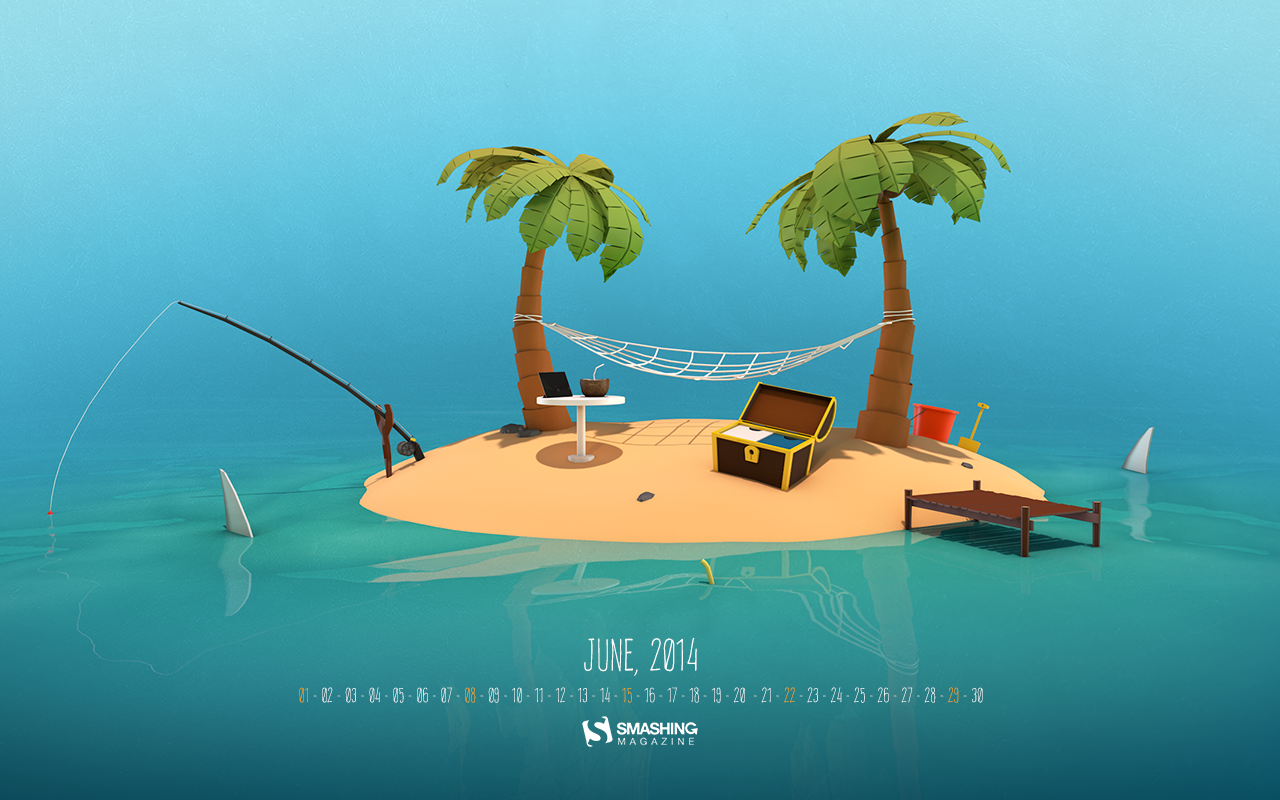 WallpapersKu: Smashing Magazine Wallpaper Calendars: June 2014