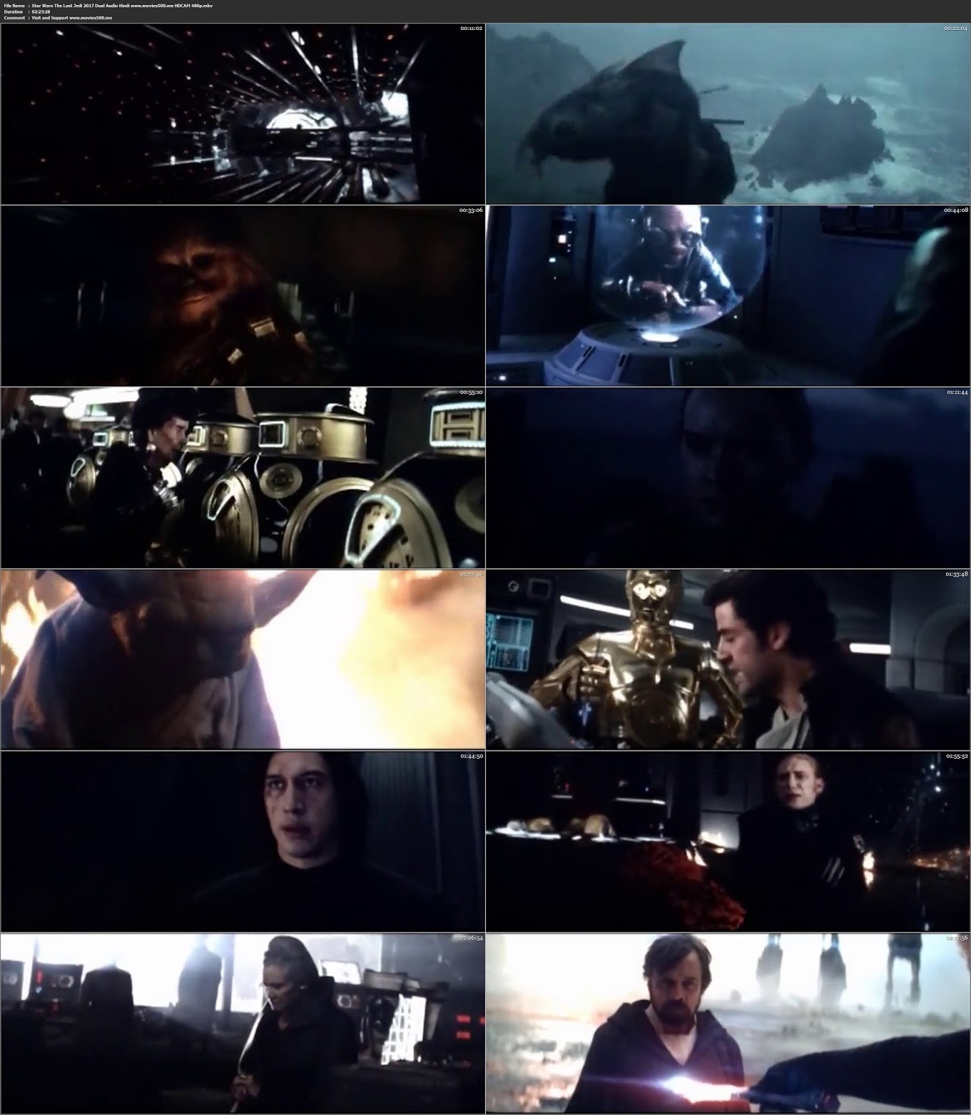 Star Wars The Last Jedi 2017 Hindi Dubbed 400MB HDCAM 480p at teelaunch.co.uk