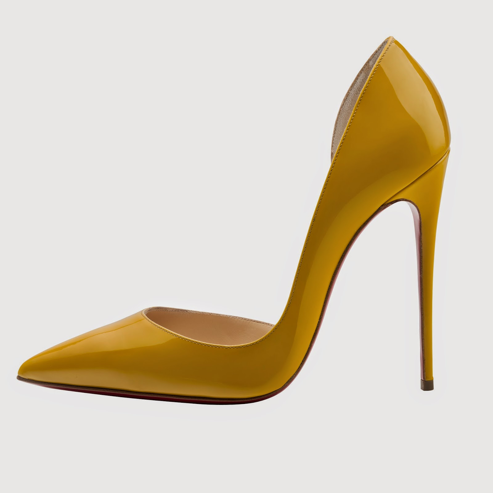 Christian Louboutin Iriza 120 Patent Epi d'Or