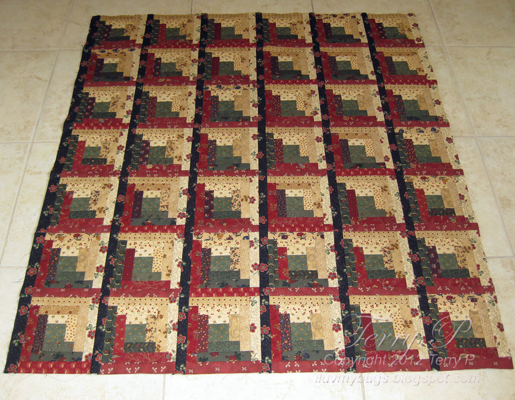 Quilting Designs For Log Cabin Blocks : Log Cabin Quilt Block