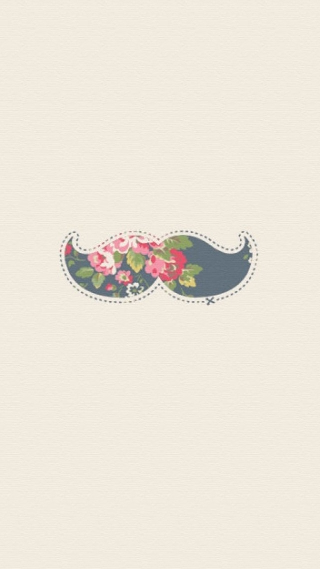 gallery for cute mustache wallpaper iphone